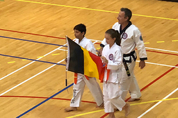 ISB students representing Belgium at Tang Soo Do World Championship